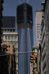 Reach for the sky: New York's World Trade Centre goes up and up and up.