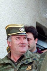 Accused ... the Bosnian Serb wartime leader, Radovan Karadzic, right, and General Mladic in 1995. Karadzic is in UN detention in The Hague accused of war crimes at Sarajevo and Srebrinica.