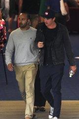 Australian bowler Sean Abbott leaves St Vincent's Hospital.