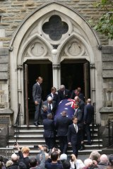 Former prime minister Malcolm Fraser was remembered at Scots Church in Melbourne.