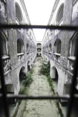 The central courtyard of Malaysia's historic Pudu Jail in Kuala Lumpur.