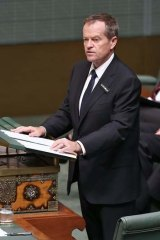 Opposition Leader Bill Shorten delivers his response to the Closing the Gap report.