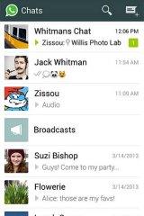 A screenshot of WhatsApp Messenger.