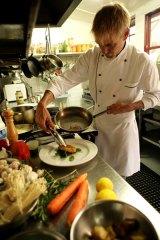 Adam de Ath of Harvest Vegetarian Restaurant.