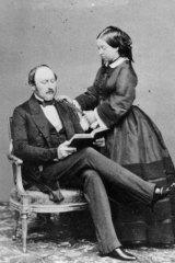Domestic realm: Queen Victoria and Prince Albert in 1860.