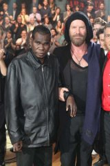 """World stage … with Sting and Nagui Fam, the host of the French TV show """"Taratata""""."""