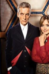 Peter Capaldi and Jenna Coleman in <i>Doctor Who</i>, which is freely available and delivered at the same time globally, but still 13,000 Australians tried to access before its release.