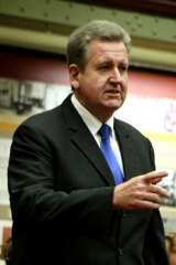 Refusing to stand down ... Barry O'Farrell.