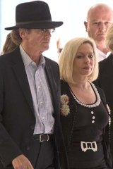 Supporting her father: Bindi Nicholls the daughter of Rolf Harris leaves Southwark Crown Court.