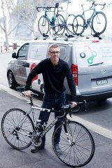 Peter Barnes of Livelo with one of the Cannondale bikes available to rent.