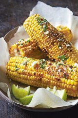 Grilled corn with chipotle chilli butter.