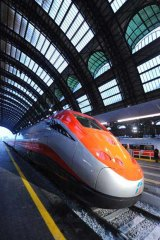 The Freccia Rossa high speed train in Italy.