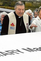 George Pell and Kristina Keneally at the celebration.