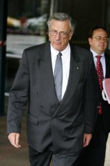 Former judge Marcus Einfeld leaves the Supreme Court on Friday.