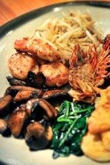 Seafood and wagyu teppanyaki.