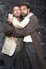 Richard Roxburgh and Hugo Weaving in <em>Waiting for Godot</em>.