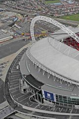 Iconic venue: An aerial view of Wembley Stadium.