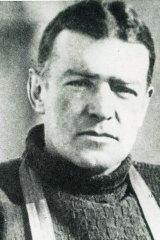 Antarctic explorer Ernest Shackleton.