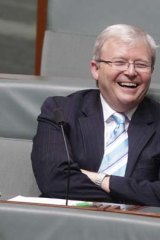Kevin Rudd looked quite at home in Parliament during question time recently.