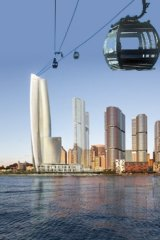 An artist's impression of the cable car concept.