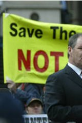 Then Opposition Leader Robert Doyle in 2005 at a mountain cattleman rally.