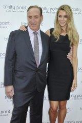 Property pairing: Jennifer Hawkins with Sydney property developer Keith Johnson.