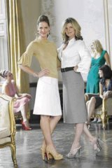 Twin set ... style gurus Trinny and Susannah are on a whirlwind tour of Westfield shopping centres.
