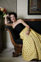 Complaint: Louise McBride in her vintage Valentino gown at her Potts Point apartment.