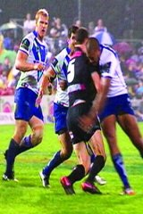 """""""Many will be asking what is the difference between Pritchard's hit on Penrith winger David Simmons, for which he received a grade one careless high tackle charge and a one-match suspension, and Te'o's knocking out of Groat (pictured)."""""""