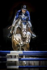 Crowd favourites: Brooke Campbell rides Visage over a jump.