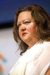 Support: Gina Rinehart's move has been welcomed.
