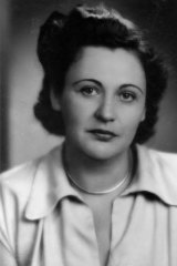 Uncomfortable civilian ... Nancy Wake in 1949, the year she first ran as a Liberal Party candidate.