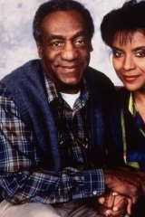 Glory days: Bill Cosby played Cliff Huxtable on The Cosby Show. He is pictured here with screen wife  Claire.