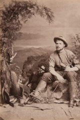 Bushman and an Aboriginal man, 1873.
