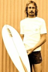 Allan Byrne with his first tow in board design.