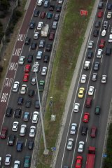 The report says a rail line could be built along the Eastern Freeway median.