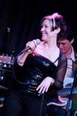 Natalie Eggenhuizen performing with her mother, Kel-Ann Brandt.