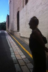 Cobbled laneway in Margaret Street precinct.