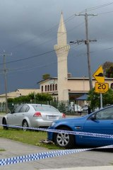 The scene at the mosque in Dallas.