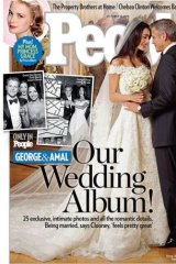 The 'People' magazine cover, featuring the happy couple.