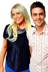 2Day FM presenters Mel Greig and Michael Christian.