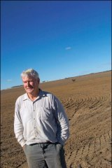 Peter Walsh on his  farm in Western Australia's eastern wheat-belt.