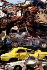 Slipping the net: Cars sold for scrap are not having HFCs removed.