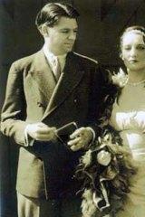Dorothy Blanchard and Oscar Hammerstein II on their wedding day in 1929.