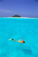 The Cocos Islands are not short of water for snorkelling.