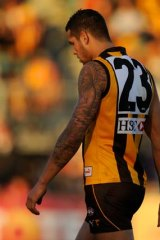 A week in the stands:Hawk star Lance Franklin.