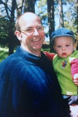 Killed by police: Greg Anderson with his son Luke Batty as a baby.