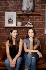 Bree Johnson (left) and Jess Hatzis started frank body with just $10,000.