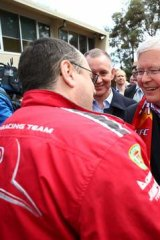 Health hopes: Kevin Rudd aims to sway region's voters.