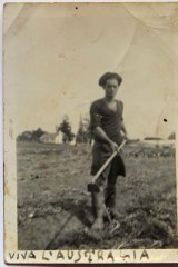 Mr Cipri in the sugar cane fields the year after his arrival.